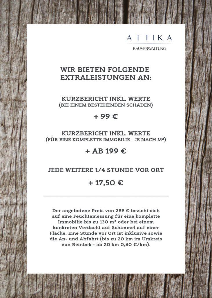 Feuchtemessung Kosten Check ImmobilienCheck Immobilie Bau Baubetreuung ATTIKA Hamburg